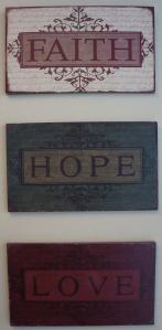Faith Hope and Love Artwork